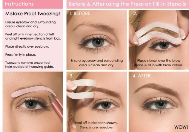 Best Eyebrow Stencils – How to Use, Choose, Tips for Printable ...