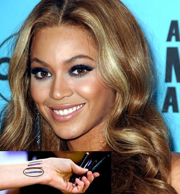 Eyeliner for Brown Eyes - Beyonce with brown eyeliners