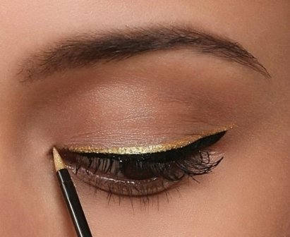 Gold Eyeliner Color