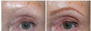 Eyebrow Tattoo - Full Created Hair Stroke Technique Permanent Eyebrows (Healed for people with sparse, no or very few eyebrows)