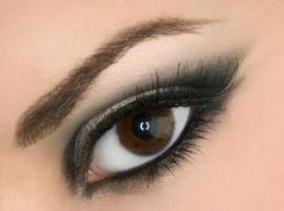 Almond Eyes Shape - With Eyeshadow, Eyeliner and Mascara applied.