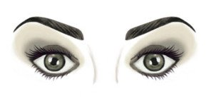 Prominent Eyes - Eyeshadow, Eyeliner, Eyebrow Makeup and Surgery Illusion