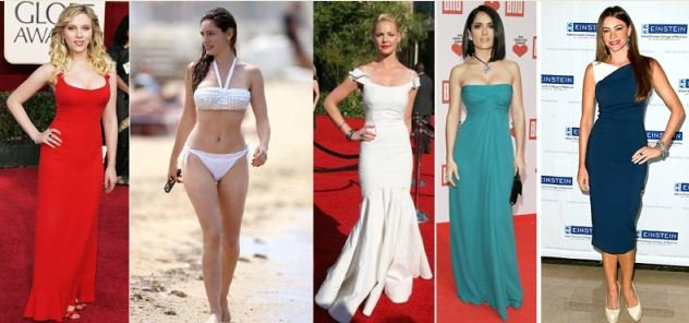 Celebrities with Hourglass Body Shape - More