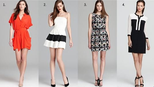 Dresses and Skirts for Rectangular Body Shape
