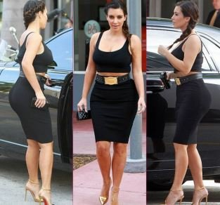 Lower Body Clothes for Curvy Women - Kim Kardashian